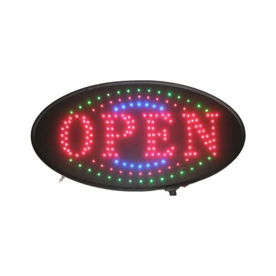Animated Oval LED Neon Light Open Sign