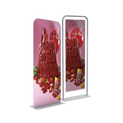 "30"" Silver EZ Tube Banner Stand with Custom Printing Graphic"