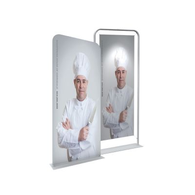 """36"""" Silver EZ Tube Banner Stand with Custom Printing Graphic"""