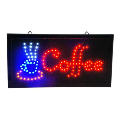 "Bright Animated LED Caffee Open Signs 19""x10"" Display Light Neon"