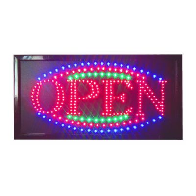 High Visible LED Neon Light Business Animated Motion Open Signs with Chain
