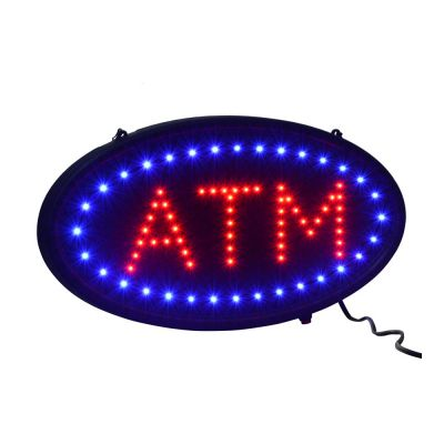 Ultra Bright LED Neon Light Motion Animation Oval ATM Signs