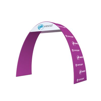 Fabric Tension Singular Arch Banner Display with Custom Graphic