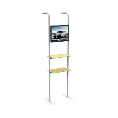 7.5 ft Straight Application Shelves for Fabric Tension Display with 2 Layer (Suitable for 10ft Straight Fabric Tension Wall Use)