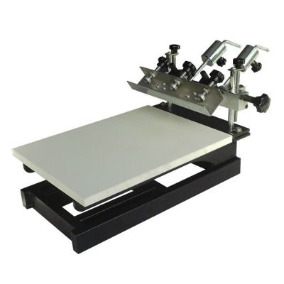 1 Color 3 Station Micro-Adjustable Screen Printing Machine