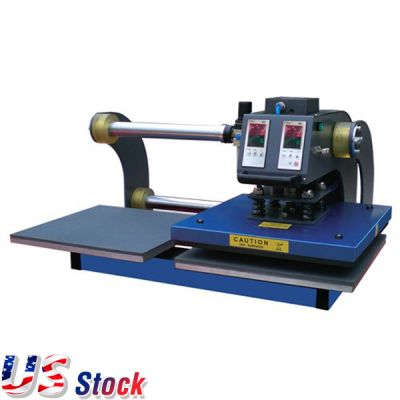 "US Stock-Ving 15"" x 20"" Pnenumatic Heat Press Machine with Double Working Tables"