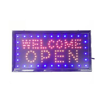 "20pcs 19"" x 10""Animated LED Neon Light Open Sign Deluxe Welcome Open"