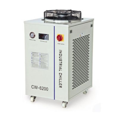 S&A CW-6200BT Dual Temperature And Dual Pump Industrial Water Chiller (2.24HP, AC 1P 220V 60Hz), for A Single 1000W-1200W Fiber Laser