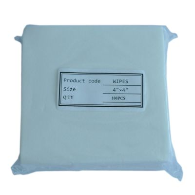 100x100mm Fiber Cleaning Wipes FOC-02,100 Pieces