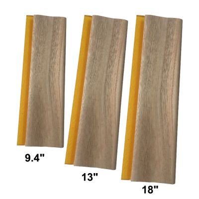 "3 pcs Silk Screen Printing Squeegee Ink Scraper 9.4"" / 13"" / 18"" Scratch Board 75 Durometer"