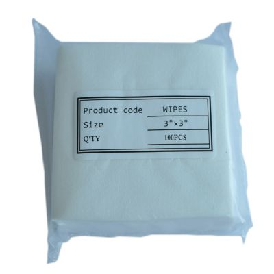 75 x 75mm Fiber Cleaning Wipes FOC-01,100 Pieces