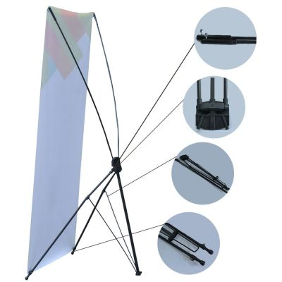 "(47.24"" X 78.74"") Economy Aluminum Foot X Banner Stand"