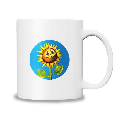 The Round Handle Sublimation Mugs White Coated Mugs B Grade 12 OZ for Heat Press Printing with Custom Graphic