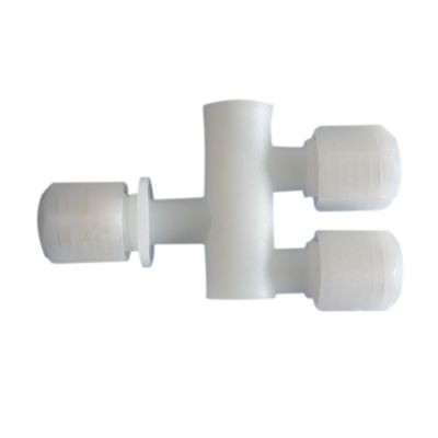 H-E Parts 4mm Threaded Three-way Tube Fitting for 3 x 4mm Tube