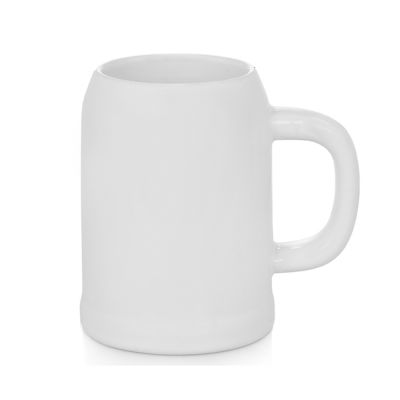 0.5L OK Beer Mug White Blank Sublimation Beer Mug