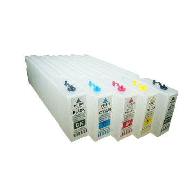 1000ml Generic Refilling Cartridge with Permanent Chip for Epson SureColor T3000 / T5000 / T7000 - 5pcs/set(KCMY MK)