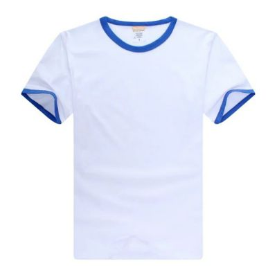 Screen Printing Blank Combed Cotton T-Shirt with Rim Colorful for Men,10pcs/pack