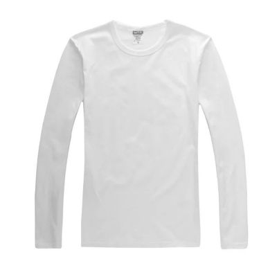 Screen Printing Blank Long Sleeve T-Shirts Combed Cotton T-Shirts for Men,10pcs/pack