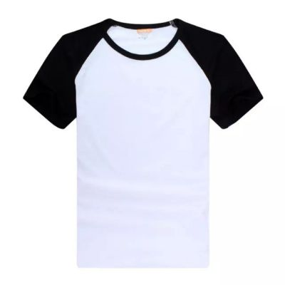 Screen Printing Blank Raglan Combed Cotton T-Shirt with Colorful Sleeve for Men,10pcs/pack