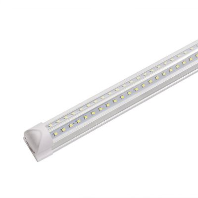 V Shaped LED Tube T8 Integrated Fixture Light 8FT 65W 85-265V Dual Row LED Bulb
