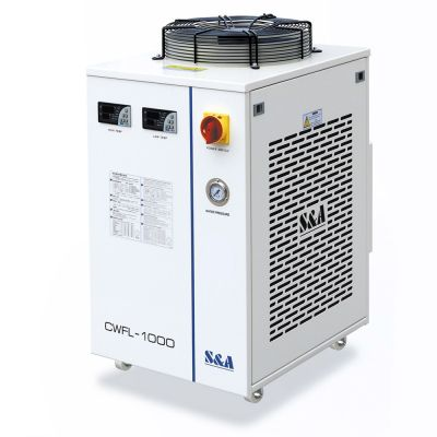 S&A CW-FL-1000AN Industrial Water Chiller for Cooling 1000W Fiber Laser, 1.84HP, AC 1P 220V, 50Hz