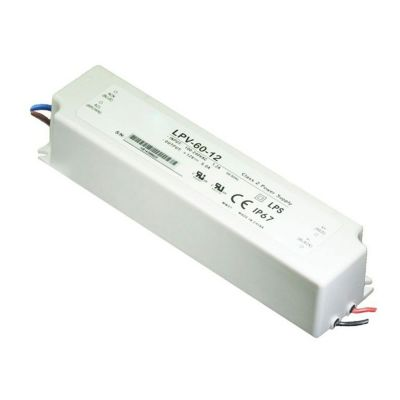 Limited Offer - 60W 12V5A IP67 LED Meanwell Plastic Waterproof Power Supply