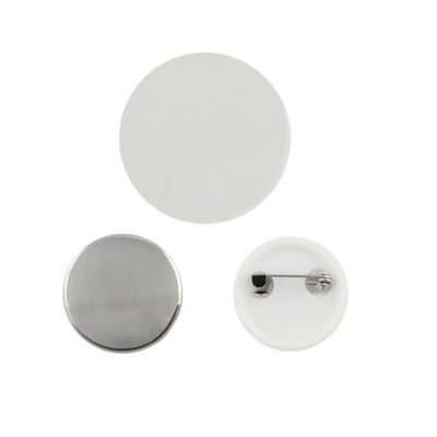 US Stock, 1000pcs 25mm Blank Pin Badge Button Supplies for Badge Maker Machine with ABS Bottom Shells