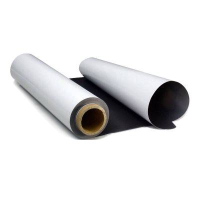 "US Stock, 24"" x 98.4´Feet PVC/PET Steel Roll Film Solvent Printing Media Magnetic Receptive"