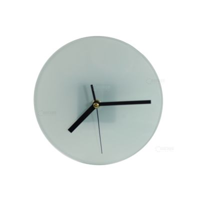 US Stock, Sublimation Blank Glass Photo Frame with Glossy Round Clock