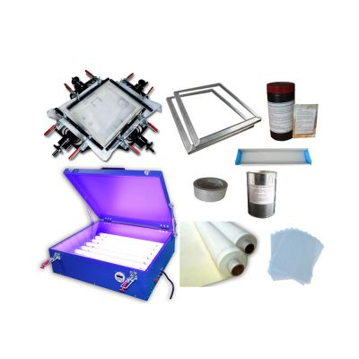 Screen Printing Kit Screen Making DIY UV Exposure Unit & Hand Screen Stretcher
