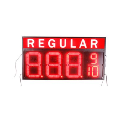 "20"" LED Gas Station Electronic Fuel Price Sign Red Color Motel Price Sign Regular"