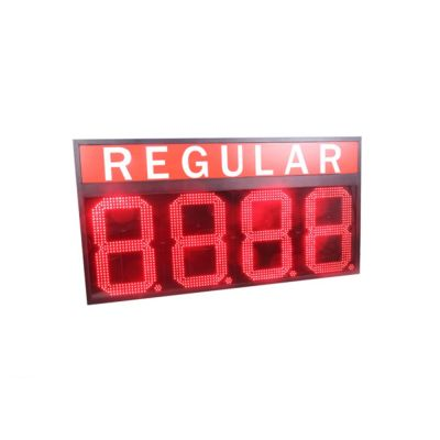 "24"" LED Gas Station Electronic Fuel Price Sign Red Color Regular Motel Price Sign"