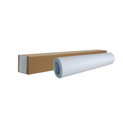 "US Stock, 54"" x 50yd Roll Glossy Cold Laminating Film (Monomeric 3.15 mil, Paper Adhesive Glue)"