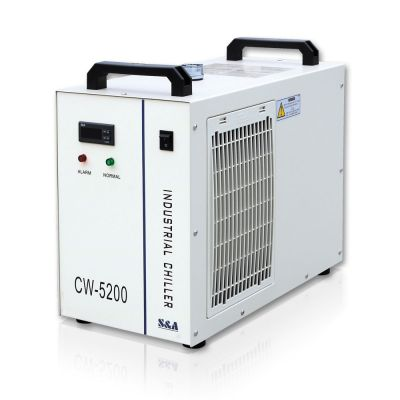 S&A CW-5200AH Industrial Water Chiller (AC 1P 220V 50Hz) for a Single 8KW Spindle / Welding Machine / One 130-150W CO2 Glass Laser Tube Cooling, 0.71HP
