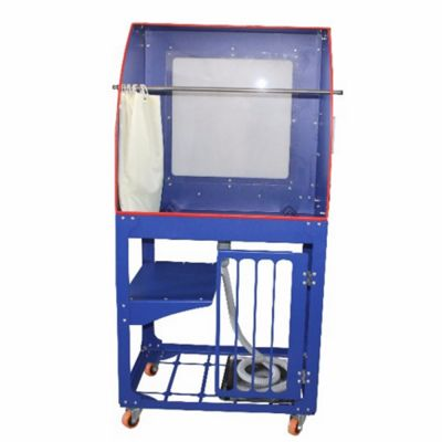 Quick Clean Screen Printing Wash Tank Vertical Rinse Sink Washout Booth with Backlight