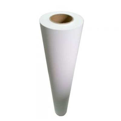 "US Stock, 54"" (1.37m) White Glue Gloss Film with Permanent Adhesive and Double PE Liner (Local Pick-Up)"