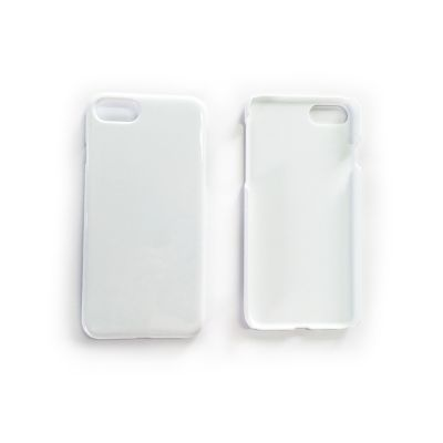 3D Sublimation White iPhone 7 / iPhone 8 Blank Cell Phone Case Cover for Heat Transfer Printing