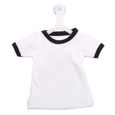 Blank Sublimation Mini T-shirt Pendants Polyester Colorful Rim Sleeve T-shirts Decorations