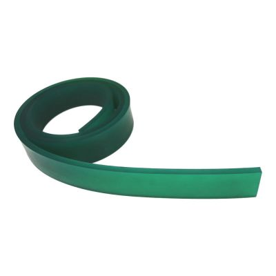 "Screen Printing Squeegee Single 50mm x 9mm x12´(144"")/Roll 75 Duro (Green Color)"