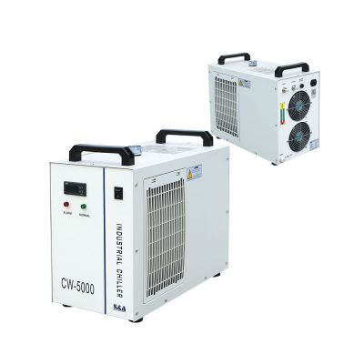 Mexico Stock, S&A CW-5000BG Industrial Water Chiller for Single 80W or 100W CO2 Glass Laser Tube Cooling, 0.52HP, AC 1P 220V, 60Hz