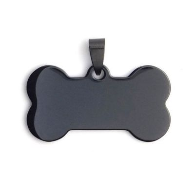 High Quality Stainless Steel Blank Bone Pet Dog Tags Pendants Laser Engraving