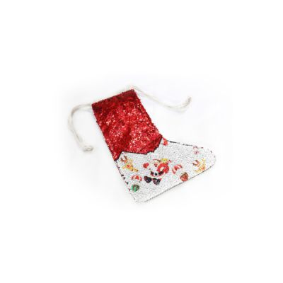 Super Style Blank Sublimation Christmas Stockings Magic Sequins Decoration Socks with Rope for Xmas Holiday