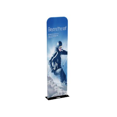 US Stock, 2ft x 7.5ft 32mm Aluminum Tube Exhibition Booth Tension Fabric Display (Graphic Included / Double Sided)