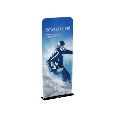 US Stock-3ft x 7.5ft 32mm Aluminum Tube Exhibition Booth Tension Fabric Display (Graphic Included / Double Sided)