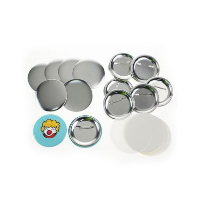 """1000pcs 1"""" (25mm) Blank Pin Badge Button Supplies for N3 Model Badge Making Machine"""