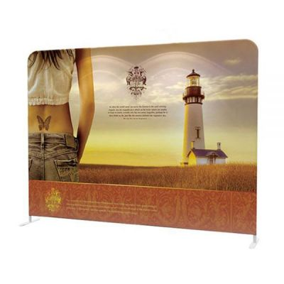 Custom Fabric Graphic For 10ft High Quality Portable Tension Fabric Exhibition Stand Backdrop Advertising Wall Banner (Graphic Only / Double Sided)