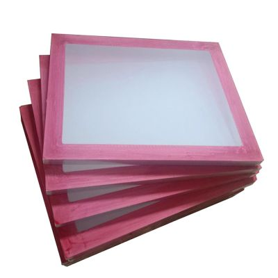 "6 Pcs - 20"" x 24""Aluminum Frame with 130 White Mesh Silk Screen Printing Screens"