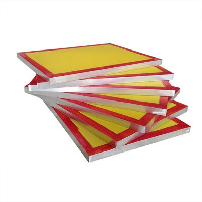 "US Stock, 6 Pcs - 23"" x 31"" Aluminum Screen Printing Screens With 230 Yellow Mesh Count (Tubing: 1.5"" x 1.5"")"