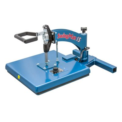 "US Stock, HIX Swingman15 Manual Swing-away Heat Press with Hand-held Timer & 15"" x 15"" Platen"