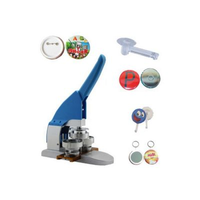 """2-1 / 4"""" 58mm Button Maker Machine Badge Press + Pin Buttons + Fridge Magnets + Mirror Buttons with Key-Chain + Hanger Buttons + 1pc 58mm Circle Cutter"""